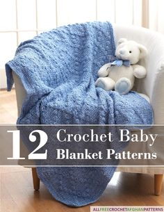 This free eBook of 12 Crochet Baby Blanket Patterns will give you the perfect inspiration for any baby shower gift!