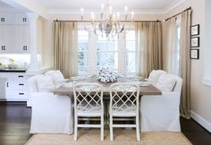 houzz: Dining Room - traditional dining room off kitchen, yet still can be formal. Bliss design firm