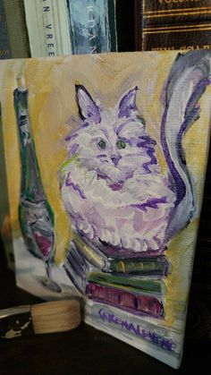Hey, I found this really awesome Etsy listing at https://www.etsy.com/listing/255129729/pussy-catartworkcolorfulcatbookswine