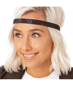 #Womens#Adjustable#NO#Slip#Skinny#Bling#Glitter#Headband#Black#CM11VD078Z3 | Women's Adjustable NO Slip Skinny Bling Glitter Headband - Black - CM11VD078Z3 No Slip Headbands, Headbands For Women, Fashion Headbands, Outdoor Hats, Glitter Fashion, Headband Styles, Exercise For Kids, Caps For Women, New Hair