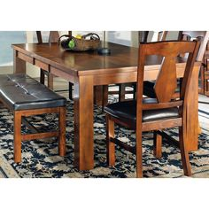 Lansing Burnished Medium Oak 78-inch Dining Table | Overstock.com Shopping - The Best Deals on Dining Tables