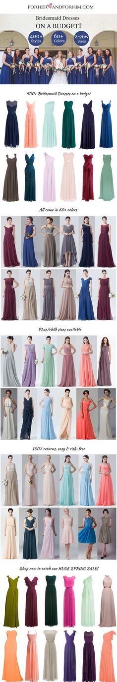 Huge Spring Sale on ALL bridesmaid dresses, don't miss it!