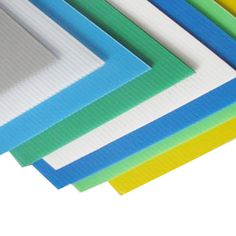 4mm Blue Correx Fluted Corrugated Plastic Sheet 9 SIZES TO CHOOSE