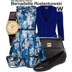 LOVE the style of this character (bernadette, big bang). Very me. Fit and flare dresses with cute cardigans.