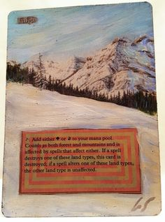 Taiga Revised Dual Land This Is One Of My Altered Cards From This Weeks Batch! To See Them All Go To   http://stores.ebay.com/MtgAlteredMagicCards #MTG #MtgAddicts #MtgAlteredArt #MtgHandPainted #MtgExtendedArt #Magic #MagicTheGathering #MtgAlter #MtgArt #WOTC #FNM #EDH