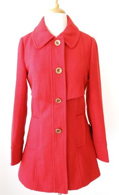 Red Pea Coat! $99.99!