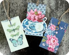 Tags with jewel