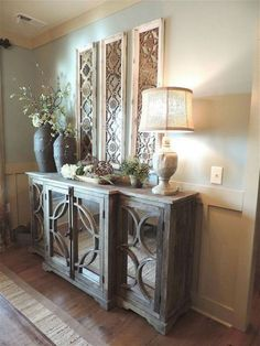 New Ideas Into Console Table Decorating Entryway Modern Never dining room console table decor - Dining Room Decor Home Living Room, Living Room Decor, Casa Magnolia, Dining Room Console, Console Mirror, Decorate Console Tables, Entryway Console, Dining Area, Foyer Decorating