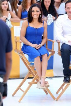 Celebrities make an appearance on 'Good Morning America' at ABC Studios in New York City, New York on August 30, 2016. Pictured: Laurie Hernandez