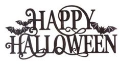 Glitzhome Metal Happy Halloween Wall Sign