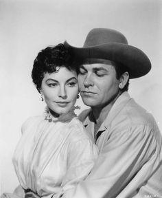 Ava Gardner y Howard Keel en Ride, Vaquero! (1953)
