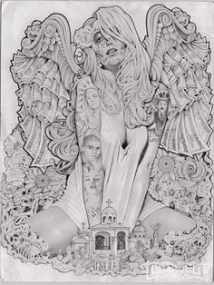 I draw erotic angel sex