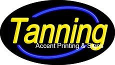 Tanning Flashing Handcrafted Real GlassTube Neon Sign