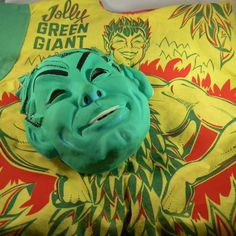 Rare Vintage Halco Masquerade Halloween Costume Jolly Green Giant with Box