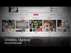 Discussion of Christine Martinez, one of the first and most popular pinners.