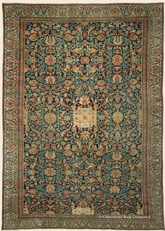 "ZIEGLER SULTANABAD, 12' 8"" x 17' 0"" — Circa 1875, West Central Persian Antique Rug - Claremont Rug Company  Click to learn more about this rug."