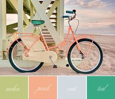 digging this color combo. Color Inspiration {Melon, Peach, Mist, Teal}