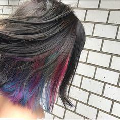 AzuMiさんはInstagramを利用しています:「.🌿🐠 @shuyu_chiku 🐚🍉🌼.newhaircolor🦄💐🌈朝早くからありがとう☺︎インナー可愛すぎる♥︎︎♥︎︎#newhaircolor #innercolor #colorful #ダブルカラー #インナーカラー #マニパニ」 Hidden Rainbow Hair, Hair Styles, Summer, Beauty, Instagram, Colourful Hair, Beleza, Hair Makeup, Summer Recipes