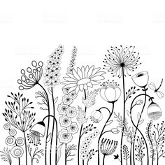 doodle art patterns / doodle art - doodle art journals - doodle art for beginners - doodle art easy - doodle art drawing - doodle art creative - doodle art patterns - doodle art for beginners easy drawings Simple Flower Drawing, Easy Flower Drawings, Butterfly Drawing, Easy Drawings, Butterfly Flowers, Drawing Flowers, Flower Sketches, Abstract Drawings, Butterfly Tattoo On Hand