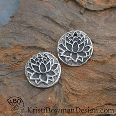 Stunning delicate Lotus Flower in *White Copper. All components are sealed to protect. These pieces are approximately .75 in diameter with 1 jump ring hole on top. For more components and finished jewelry please click[ ](http://kristibowmandesign.etsy.com)[HERE](http://kristibowmandesign.com)