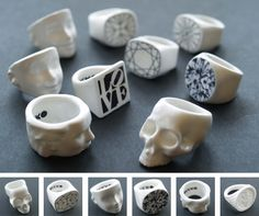 Alex Garnett porcelain rings (formerly MIXKO)  http://alexgarnett.com/