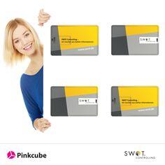Wir belieferten SWOT Controlling mit bedruckten USB Kredit Karten als Werbeartikel. SWOT entwickelt, vertreibt und betreut Business Intelligence-Lösungen. Über 5000 Unternehmen aller Branchen vertrauen für Planung und Steuerung auf SWOT- und das seit 1997.