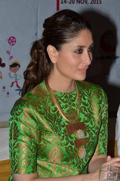Kareena Kapoor Latest Stills In Green Dress - Tollywood Stars