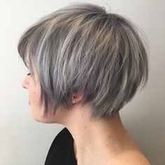 awesome 40 Stunning Grey Hair Trend Ideas - Draw Extra Attention