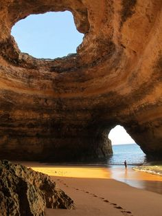 Sea Cave in Algarve, Portugal  -  from the page: 11 Unusual Caves Around the World