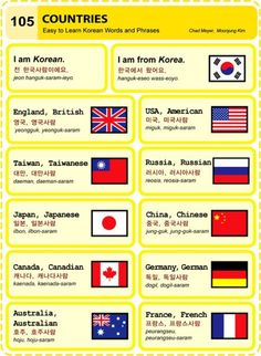 ~Countries In Korean~