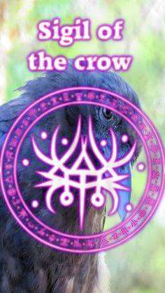 Wolf Of Antimony Occultism — Sigil of the crow Wiccan Symbols, Magic Symbols, Egyptian Symbols, Ancient Symbols, Celtic Symbols, Wiccan Spell Book, Wiccan Spells, Magic Spells, Witchcraft