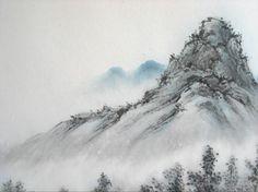 chinese ink painting landscape - Flip, background
