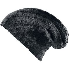 Reversible knit beanie of Black Premium by EMP with two different knitting varieties.