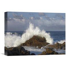 Global Gallery Crashing Waves at Garrapata State Beach Big Sur California Wall Art - GCS-396546-2432-142