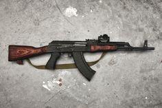 I have a similar set up on an Arsenal SLR very dependable weapon! Ak 47, Assault Weapon, Assault Rifle, Kalashnikov Rifle, Ar Rifle, Ar Pistol, Guns And Ammo, Hand Guns, Weapons