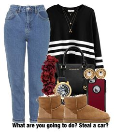 """Queen"" by jjaysuave ❤ liked on Polyvore featuring Michael Kors, Topshop, Miss Selfridge, Invicta, Chanel, UGG Australia, OtterBox and Forever 21"
