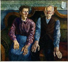 """Otto Dix - """"Die Eltern des Künstlers II"""" (Parents of the Artist II)"""