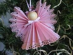 so many lace angel ornaments!                                                                                                                                                                                 More