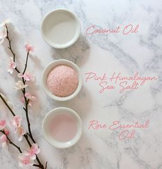 Coconut Rose Body Scrub DIY at LuLus.com!