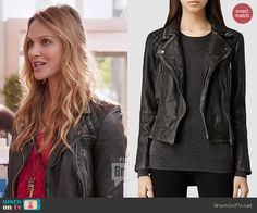 Phoebe's leather jacket on Girlfriends Guide to Divorce.  Outfit Details: http://wornontv.net/46124/ #GG2D
