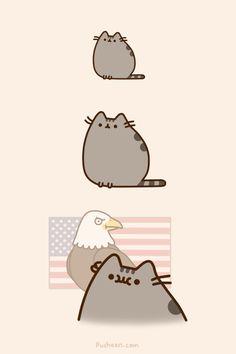Pusheen: patriot
