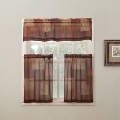 Eden is a sheer voile fabric tier curtain that is adaptable for use in the kitchen, dining or living spaces. The Eden kitchen curtain features beautiful colors like brown, cream and rust with words like happiness and tranquility which transmit peaceful thinking. Features:-Available in Multi and Sage-100% polyester-Machine Wash cold, gentle cycle- Use only non-chlorine bleach when needed- Tumble dry low heat. Cool iron as needed. - Swag is not available ONLINE ONLY…