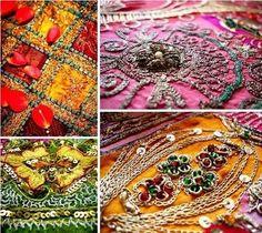 An Indian Summer: India Inspired Wedding Weaving Patterns, Textile Patterns, Textile Art, Fabric Art, Fabric Design, Fabric Embellishment, Embellishments, Bollywood Wedding, Sari