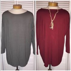 Piko Tunic - Burgundy We also have this piko tunic available in olive and blue Piko Tops Tunics