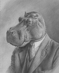 Hippo Pencil Drawing | Hippopothlamus