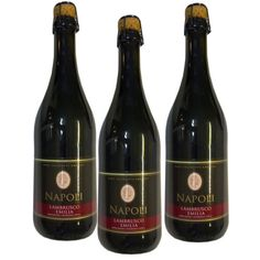 Vin Rouge Lambrusco Napoli 75 Cl 8º - LOT DE 3