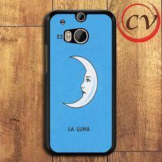 Moon La Luna HTC One M8 Black Case
