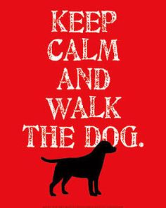 LABRADOR RETRIEVER BLACK GUNDOG DOG FINE ART PRINT - Keep Calm and Walk the Dog | eBay