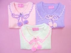 pastel sweaters, kawaii!