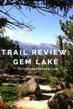 Beginner hiker's guide to Gem Lake Trail near Estes Park. Hike into Rocky Mountain National Park and enjoy some spectacular views! Estes Park Colorado, Colorado Hiking, Loveland Colorado, Best Campgrounds, Trail Guide, On The Road Again, Mountain Vacations, Camping Spots, Rocky Mountain National Park